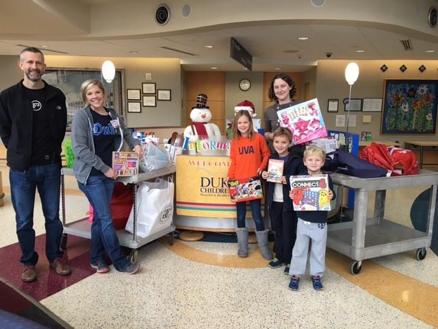 F3 brothers raising toys for Duke Pediatrics.